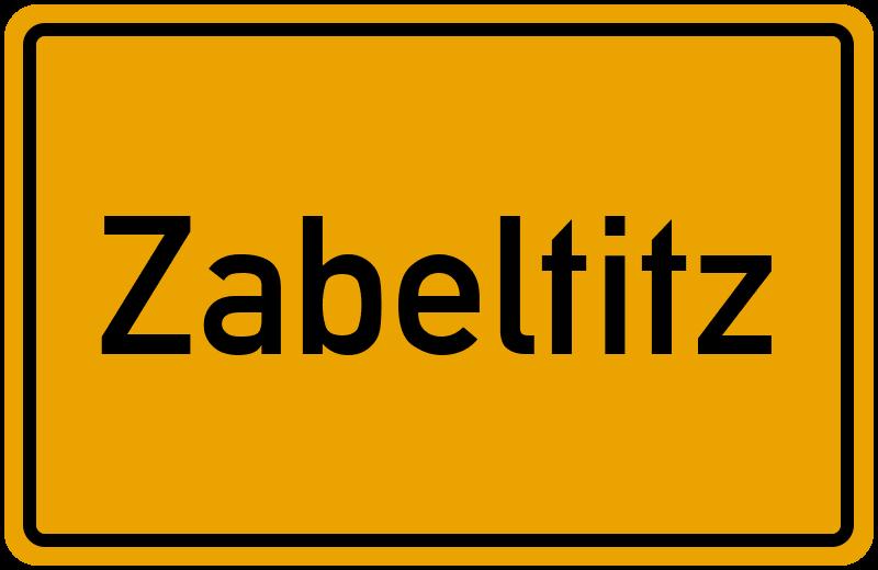 Ortsschild Zabeltitz kostenlos: Download & Drucken