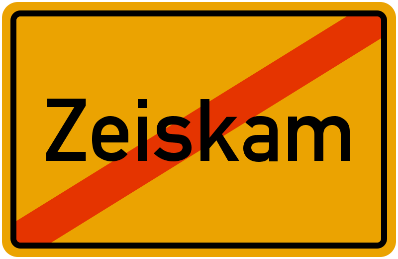 Ortsschild Zeiskam