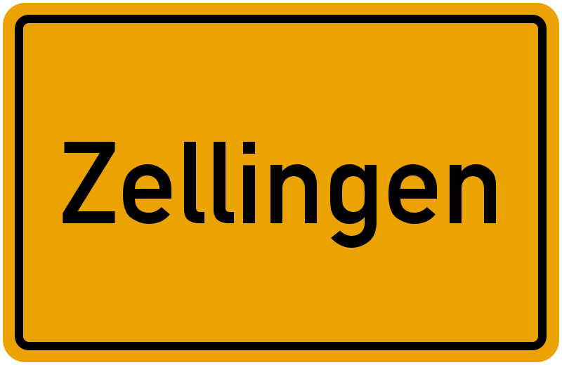 Ortsschild Zellingen