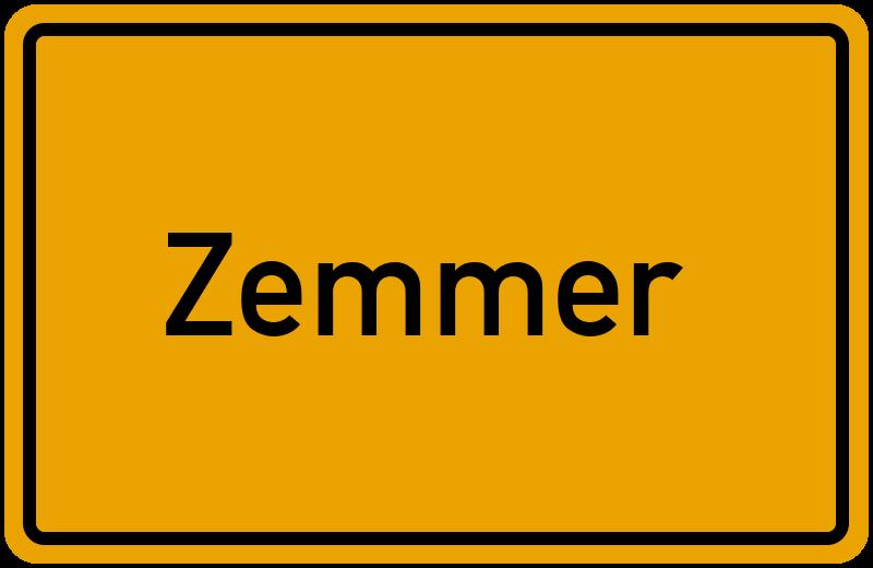Ortsschild Zemmer