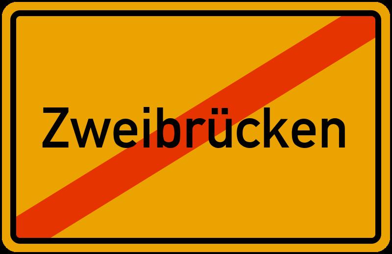 Ortsschild Zweibrücken