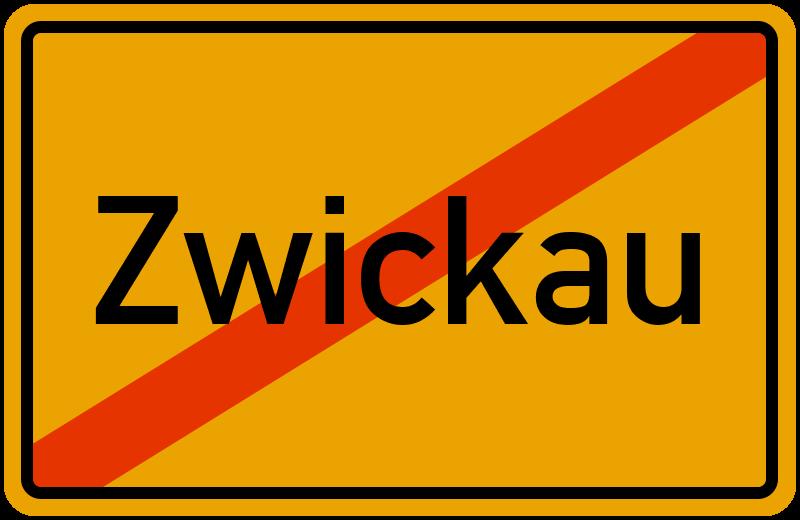 Ortsschild Zwickau